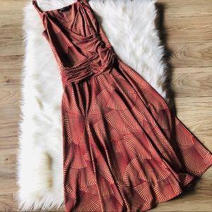 BCBGMaxAzria Fan Patterned Dress Size XS